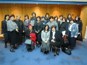 מתנדבות מרכז מידע לבריאות האשה בקבלת פרס מגן שר הבריאות