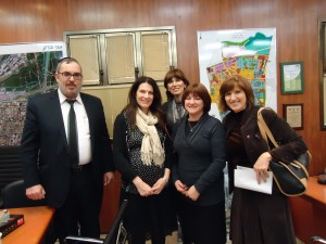 celia gould with volunteers women's health information center bne braq lili lev shoshana goldfinger and bne braq mayor yaakov asher 10.1.13