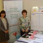 לילי לב ושרה קצובר - מתנדבות פרויקט בריאות הפה של מרכז מידע לבריאות האשה